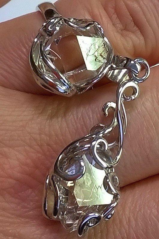 Кольца ручной работы. Ярмарка Мастеров - ручная работа. Купить Изделия с алмазами херкимера на заказ. Handmade. Ручная работа