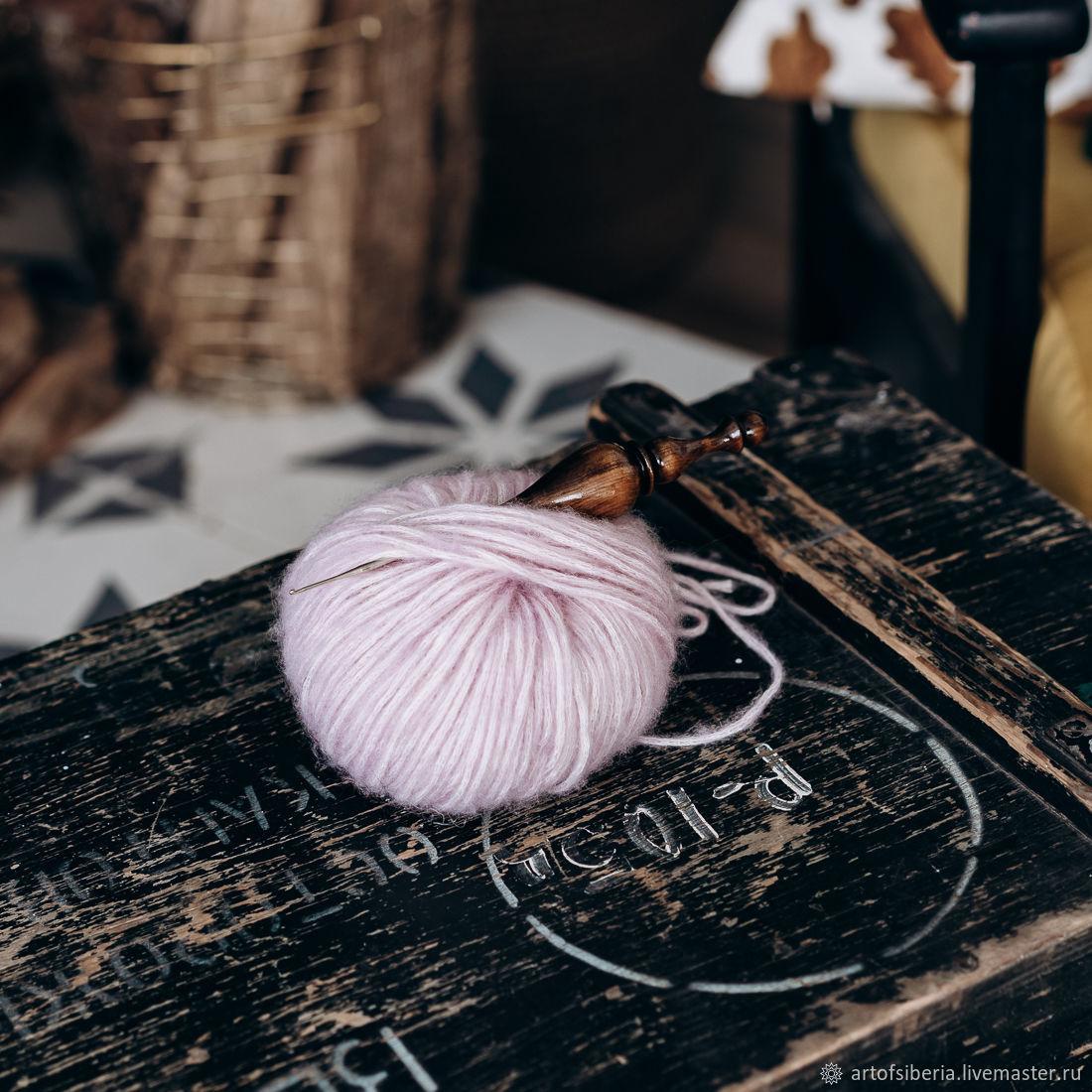 0,8 mm iron crochet hook with wooden handle (cedar) K215, Crochet Hooks, Novokuznetsk,  Фото №1