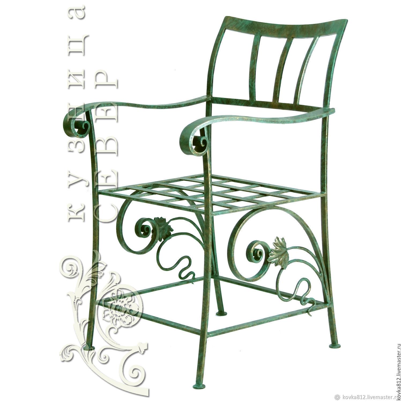Мебель ручной работы. Ярмарка Мастеров - ручная работа. Купить Кованое кресло 'Ялта'. Handmade. Ковка, для дачи, тёмно-зелёный