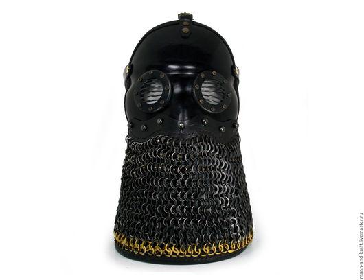 """Ролевые игры ручной работы. Ярмарка Мастеров - ручная работа. Купить Тренчпанк маска с очками и кольчужным фартуком - """"Sturmmann"""" BLB. Handmade."""