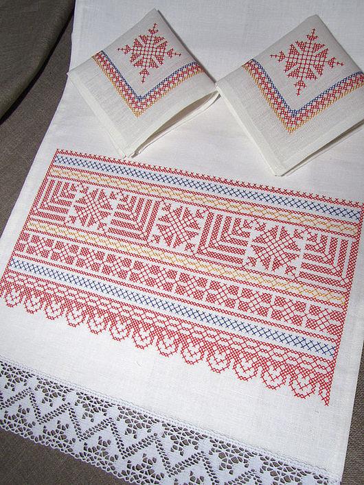 Набор для венчания Венчальный рушник:  40 x 200 см. Салфетка (2 шт.): 26 x 26 см.