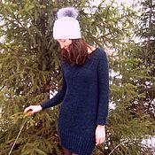 """Одежда ручной работы. Ярмарка Мастеров - ручная работа Вязаное платье-туника из альпаки """"Гравитация"""". Handmade."""