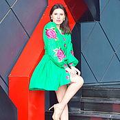 Одежда handmade. Livemaster - original item Boho Chic Dress Embroidered Vyshyvanka dress. Handmade.