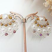 Украшения handmade. Livemaster - original item Peacock earrings. Handmade.