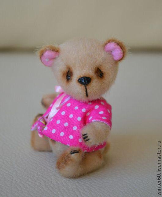Мишки Тедди ручной работы. Ярмарка Мастеров - ручная работа. Купить Медвежонок Миу. Handmade. Бежевый, малыш, пластика