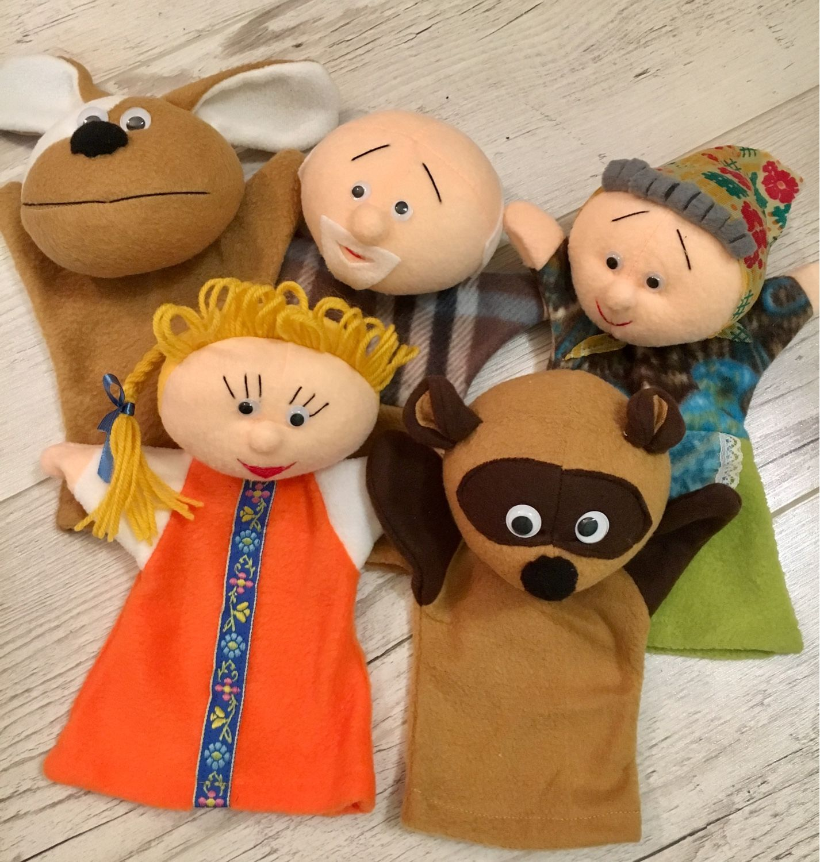 «Маша и Медведь» Набор кукол перчаток, Куклы и пупсы, Москва,  Фото №1