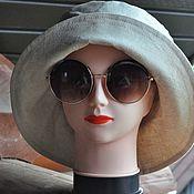 handmade. Livemaster - original item Women`s solid color panama hat for city walks.. Handmade.