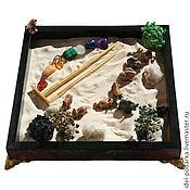 Подарки к праздникам ручной работы. Ярмарка Мастеров - ручная работа Японский садик Игра цветов (яшма, полудрагоценные камни). Handmade.