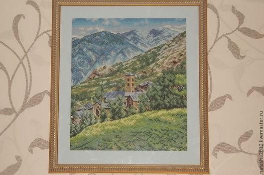 """Пейзаж ручной работы. Ярмарка Мастеров - ручная работа. Купить Вышитая картина """" Горный пейзаж"""". Handmade. Вышивка крестом"""