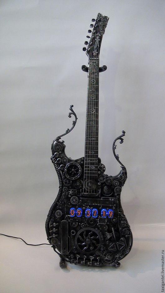 Часы для дома ручной работы. Ярмарка Мастеров - ручная работа. Купить Гитара. Handmade. Гитара, nixie, часы интерьерные