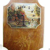 Для дома и интерьера ручной работы. Ярмарка Мастеров - ручная работа Часы Тихая гавань. Handmade.
