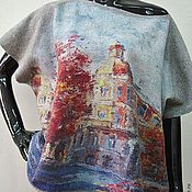 Одежда handmade. Livemaster - original item Felted sweater Roman holiday. Handmade.