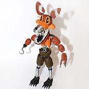 Мягкие игрушки ручной работы. Ярмарка Мастеров - ручная работа Игрушка из полимерной глины персонаж компьютерной игры Foxy. Handmade.