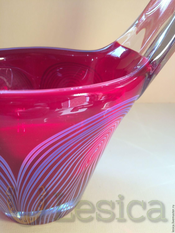 The candy bowl vase basket Fedorkov the Neman USSR, Vintage interior, Ramenskoye,  Фото №1