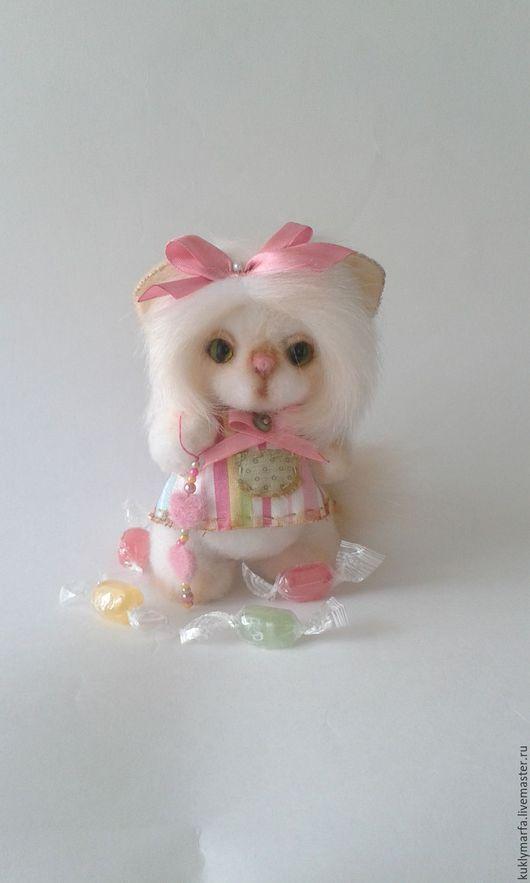 Мишки Тедди ручной работы. Ярмарка Мастеров - ручная работа. Купить Фифа.Продана. Handmade. Белый, тедди мишка