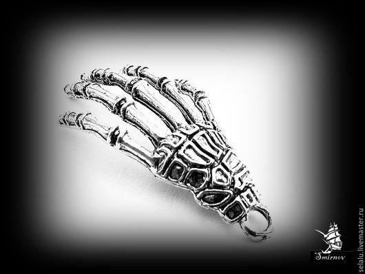 """Для украшений ручной работы. Ярмарка Мастеров - ручная работа. Купить """"Рука"""". Handmade. Серебряный, материалы для творчества, череп"""