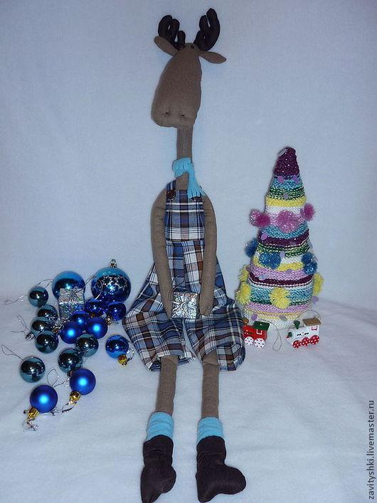 Куклы Тильды ручной работы. Ярмарка Мастеров - ручная работа. Купить Лось Тильда. Handmade. Синий, забавный, лосик
