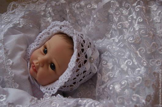 Для новорожденного, шапочка для новорожденного, шапочка для девочки, Ярмарка Мастеров, ручная работа купить.
