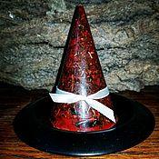 Бесфитильная травяная свеча(красная)