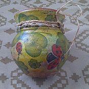 Аксессуары ручной работы. Ярмарка Мастеров - ручная работа горшочек керамический. Handmade.