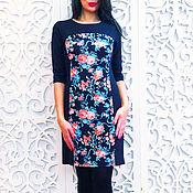 Платья ручной работы. Ярмарка Мастеров - ручная работа Super Sаlе арт. 515-Платье трикотажное со вставками роза. Handmade.
