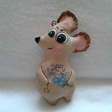 Куклы и игрушки ручной работы. Ярмарка Мастеров - ручная работа Кофейная мышка. Handmade.