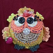 Мягкие игрушки ручной работы. Ярмарка Мастеров - ручная работа Игрушки: Совушка с сумочкой. Handmade.