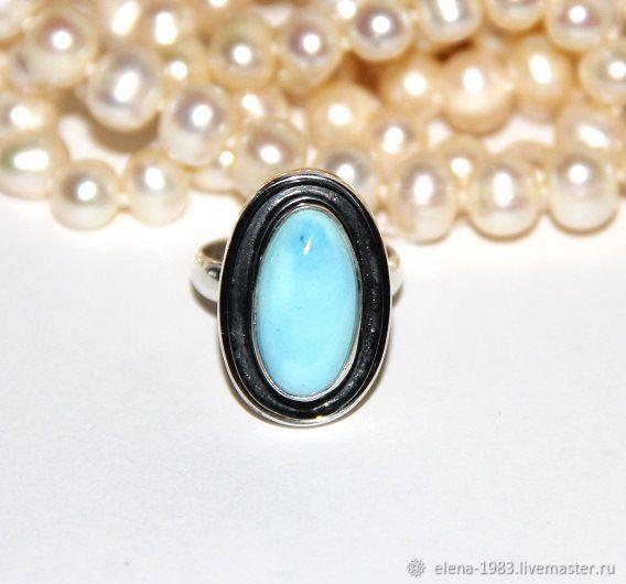Серебряное кольцо (925) с бирюзой (Казахстан), Кольца, Москва, Фото №1
