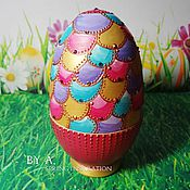 Для дома и интерьера ручной работы. Ярмарка Мастеров - ручная работа Декоративное яйцо пасхальное яйцо шкатулка в форме яйца. Handmade.