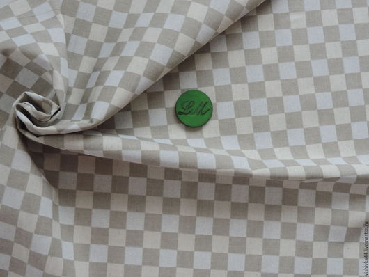 Шитье ручной работы. Ярмарка Мастеров - ручная работа. Купить ткань лен хлопок Шахматка. Handmade. Ткань лен, хлопок