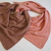 Аксессуары handmade. Livemaster - original item scarves: Knitted scarf made of mink / angora peach scarf fluffy. Handmade.