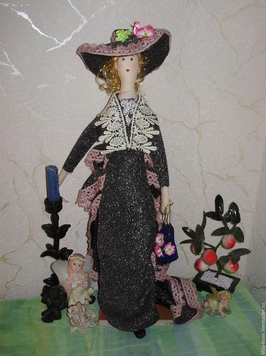 Куклы Тильды ручной работы. Ярмарка Мастеров - ручная работа. Купить Кукла  Тильда   молодая дама  Изольда в шляпе. Handmade.