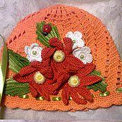 """Работы для детей, ручной работы. Ярмарка Мастеров - ручная работа Шапочка """" Оранжевая прелесть"""". Handmade."""