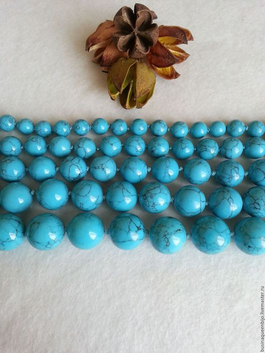 Для украшений ручной работы. Ярмарка Мастеров - ручная работа. Купить 8,10,12,14,16мм Бирюза голубая пресс. Handmade.
