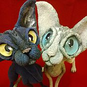 Stuffed Toys handmade. Livemaster - original item Sphinx bald cat dark gray color. Handmade.