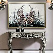 Картины ручной работы. Ярмарка Мастеров - ручная работа Лебедь. Handmade.