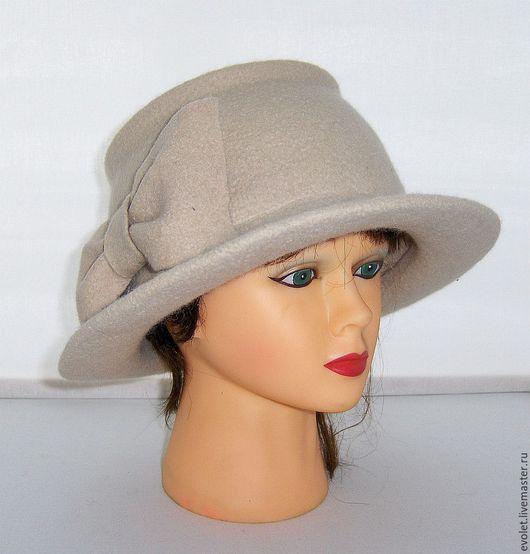 """Шляпы ручной работы. Ярмарка Мастеров - ручная работа. Купить Шляпка валяная  """" Облачный день """".. Handmade. Шляпа"""