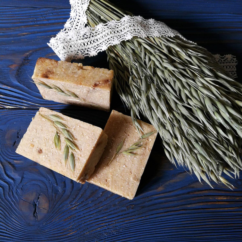 Soap scrub on oat milk natural, handmade, Soap, Moscow,  Фото №1