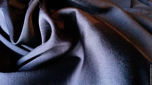 Шитье ручной работы. Ярмарка Мастеров - ручная работа. Купить Мокрый шелк стрейч. Handmade. Тёмно-синий, шелк, стиль