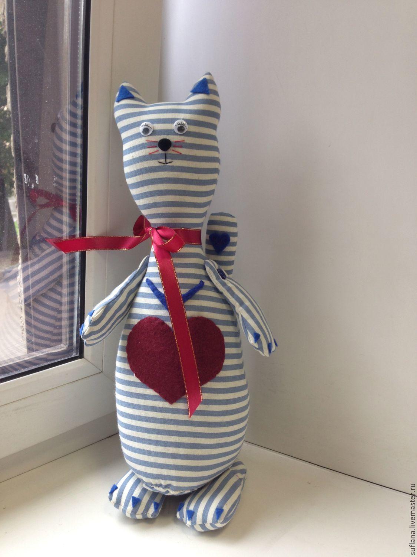 ручной работы. Ярмарка Мастеров - ручная работа. Купить котик моряк. Handmade. Кот, голубой, коты, котята, коты и кошки