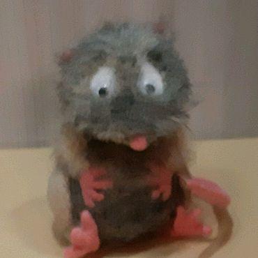 Куклы и игрушки ручной работы. Ярмарка Мастеров - ручная работа интерьерная валянная игрушка Крысенок обжорка. Handmade.