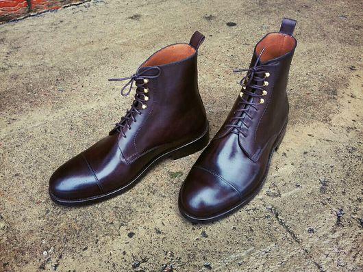 Обувь ручной работы. Ярмарка Мастеров - ручная работа. Купить Зимние ботинки haybros. Handmade. Обувь ручной работы