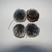Материалы для творчества ручной работы. Ярмарка Мастеров - ручная работа Шарики- помпоны из шиншилы. Handmade.