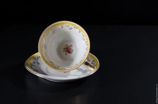 Винтажная посуда. Ярмарка Мастеров - ручная работа. Купить Чайная пара извесной немецкой фирмы Riebel Mitterteich. Handmade. Лимонный