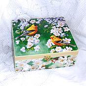 Для дома и интерьера handmade. Livemaster - original item Box threads Apple blossoms. Handmade.