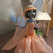 Куклы и игрушки ручной работы. Ярмарка Мастеров - ручная работа Вечерние персиковые платья Monster High (МонстрХай). Handmade.