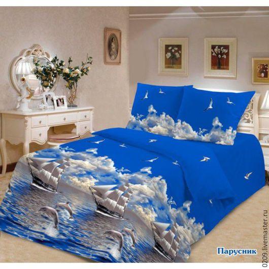 Шитье ручной работы. Ярмарка Мастеров - ручная работа. Купить бязь постельная Парусник. Handmade. Комбинированный, ткань для творчества