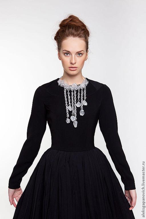 Платья ручной работы. Ярмарка Мастеров - ручная работа. Купить Платье с плиссировкой. Handmade. Черный, черное платье, пышная юбка