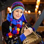Одежда ручной работы. Ярмарка Мастеров - ручная работа шапочка и шарфик. Handmade.