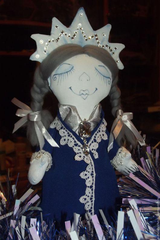 Сказочные персонажи ручной работы. Ярмарка Мастеров - ручная работа. Купить Снегурочка. Handmade. Тёмно-синий, куколка ручной работы